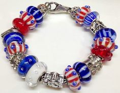 ♥Trollbeads-red,white,blue