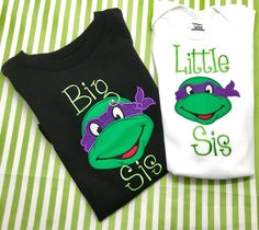 A personal favorite from my Etsy shop https://www.etsy.com/listing/528025788/personalized-tmnt-shirttmnt-shirtninja