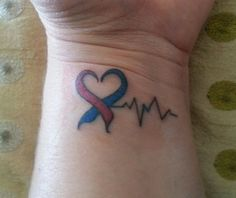 My chd tattoo in honor of my son!