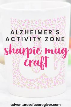 DIY Sharpie Mug Craft Adapted for Seniors DIY Sharpie Mug Craft adapted for seniors! Tips to make this fun craft a successful project for those with Alzheimer's or other forms of dementia. This craft is great for individuals and groups! Activities For Dementia Patients, Dementia Crafts, Alzheimers Activities, Dementia Care, Assisted Living Activities, Senior Activities, Art Therapy Activities, Exercise Activities, Elderly Activities