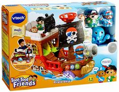 Superb VTech Toot-Toot Friends Kingdom Pirate Ship Now at Smyths Toys UK. Shop for VTech Toot Toot At Great Prices. Pirate Adventure, Teaching Colors, Toys Uk, Buried Treasure, Fun Songs, Pirate Life, Electronic Toys, Treasure Island, Toot