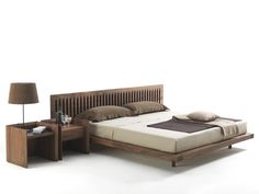 Soft Wood Bed, Transitional Bedroom Design at Cassoni. Wooden Double Bed, Double Bed Designs, Luxury Italian Furniture, Transitional Bedroom, T Home, Wood Beds, Bed Plans, Master Bedroom Design, Bed Frame