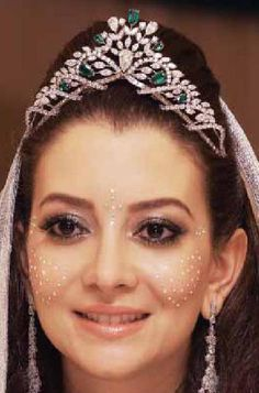 Tiara Mania: Emerald & Diamond Tiara worn by Lalla Oum of Morocco in 2014