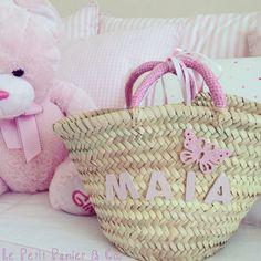 Capazos para niñas, ideales como regalo de comunión, baby shower o para un recién nacido. Más info en http://lepetitpanierandco.blogspot.com