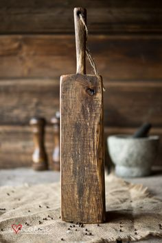 Vintage style serving board made of old wood