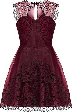 Baroque Cutwork Tutu Dress by Karen Millen at Harrods London