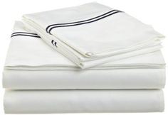navy hotel bed sheets