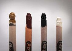 Star Wars crayon carvings.