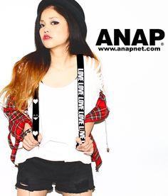 ANAP 『LOVE』サスペンダー - ANAP オンラインショップ[通販]