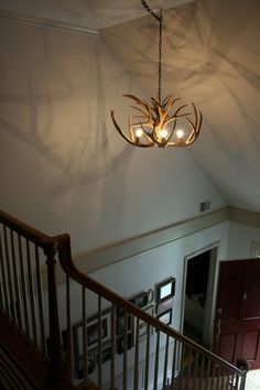 How to make antler lamps how to make deer antler chandelier deer antler chandelier aloadofball Choice Image