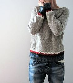 and another one just for me…. made from my Kaarina and Ingrid - leftovers had not enough yarn left to knit the whole sweater with the All American Collection Sport weight….but these l...