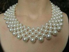 Pearl Jewelry – An Emerging Fashion Accessory Pearl Statement Necklace, Cultured Pearl Necklace, Seed Bead Necklace, Beaded Necklace, Bead Jewellery, Pearl Jewelry, Jewelery, Jewelry Necklaces, Pearl Necklaces