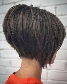 50 Chic Short Bob Hairstyles & Haircuts for Women in 2019 - Style My Hairs Stacked Bob Hairstyles, Bob Hairstyles For Fine Hair, Hairstyles Haircuts, Medium Hairstyles, Braided Hairstyles, Wedding Hairstyles, Latest Hairstyles, Celebrity Hairstyles, Bob Haircuts For Women