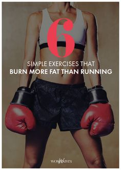These simple exercises will have you burning more calories and fat than your normal run. Womanista.com