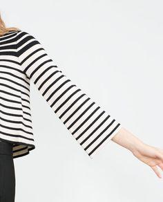 BELLED SLEEVE STRIPED SWEATER-Sweaters-Knitwear-WOMAN | ZARA United Kingdom
