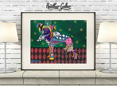 DOG ANGEL Chinese Crested Angel art dog Poster Print of painting by Heather Galler (HG383)