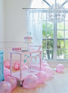 Make-a-Wish Birthday Party | POPSUGAR Moms #whimsical #pastels #pink #turquoise #tweens #toddlers #kids #birthday #party #parties #ideas #themes