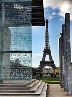 The Eiffel Tower and the Peace memorial on the mall - such a powerful piece.