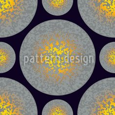 Eruption designed by Andreas Loher available on patterndesigns.com Vector Pattern, Table Linens, Surface Design, Circles, Fun, Patterns, Space, Medium