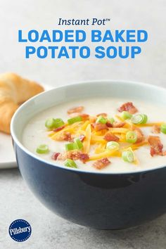 Load up your Instant Pot™ with this easy potato soup for a dinner that's quick, tasty and guaranteed to please. Expert tips: Serve with fresh-baked Pillsbury™ crescent dinner rolls. Want your soup even more loaded? Top with diced ham and sour cream.