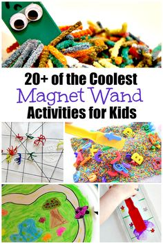 Here is a collection of 20  of the coolest magnet wand activities from LalyMom. Kids love these fun science activities! Try some of them together with them. These magnets for kids are the neatest! What a cool way to explore the science of magnets with kids! #magnetactivities #kidsactivities #scienceforkids #scienceactivities #sciencelessons
