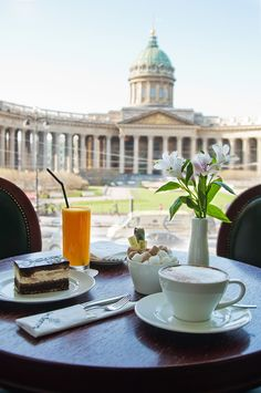 Singer cafe in the famous Singer book store with a very nice view. Saint Petersburg, Russia