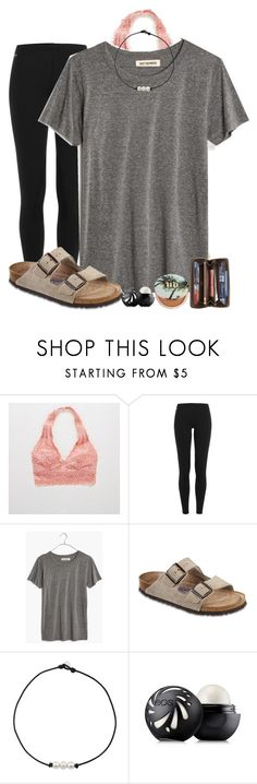 """Atlanta this weekend"" by alexislynea-804 on Polyvore featuring Aerie, Polo Ralph Lauren, Madewell, Birkenstock, Eos, Urban Decay and Louis Vuitton"
