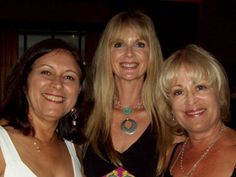 The Pilates Place Instructor/Owner Julee Jones (middle) with Mari Windsor, and Julee's mentor/trainer Romana Kryzanowska