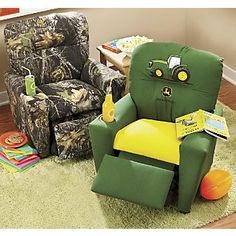 Mossy Oak And John Deere Child Recliners