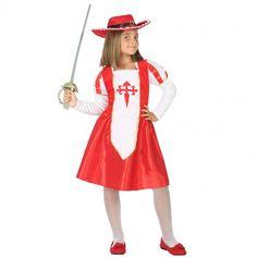 Déguisement Mousquetaire rouge pour fille #costumespetitsenfants #nouveauté2017