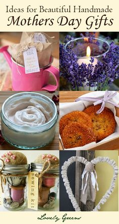 Handmade Mother's Day Gift Ideas ~ Lovely Greens