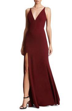Dress the Population Iris Slit Crepe Gown    #ad #bridesmaiddress #weddingguest