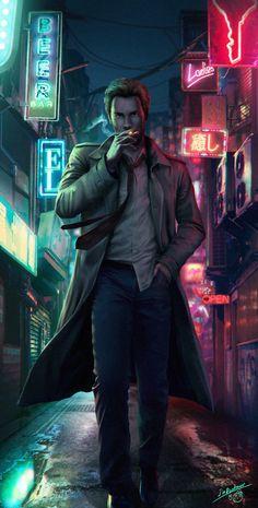 Constantine by on DeviantArt Comic Book Characters, Comic Character, Comic Books Art, Comic Art, Constantine Comic, Constantine Hellblazer, Dc World, Justice League Dark, Modern Magic