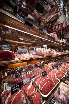 awesome butcher shop display case