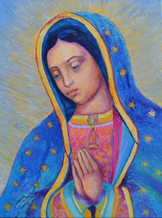 Our Lady of Guadalupe print Virgen de Guadalupe by TanabeStudio