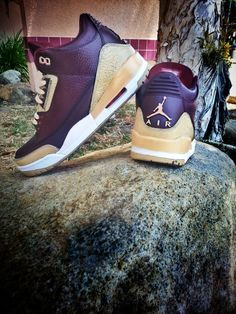 "Air Jordan 3 ""Champagne"" Custom"