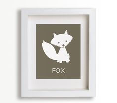 Baby's First Art Print - Fox 8x10 - Nursery Decor, Nursery Art, Great Outdoors, Children Decor, Kids Art, Playroom, Forest Animals, Sly Fox. $14.95, via Etsy.