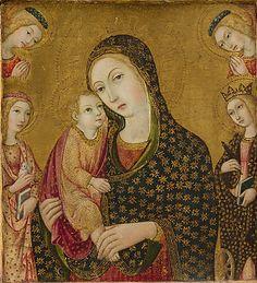 By Sano di Pietro (Siena 1405-1481), ca. 1470-80, Madonna and Child