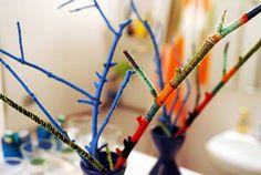 yarn branch art piece thing by -leethal-, via Flickr