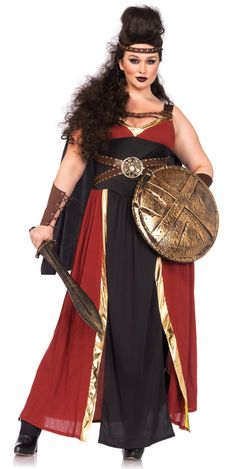 Regal Warrior Greek Plus Size Womens Costume is perfect as a Greek Warrior costume, or a Gladiator costume! Buy Regal Warrior costume and many other Plus size costumes online. Plus Size Halloween, Adult Halloween, Trendy Halloween, Adult Costumes, Costumes For Women, Halloween Costumes, Roman Costumes, Halloween Dress, Mascot Costumes