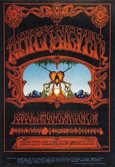 Collecting Concert Posters: The Art of Rock ....  Quicksilver Messenger Service.... Kaleidoscope ..... Avalon Ballroom ..... artist .....  RICK GRIFFIN .... 1968