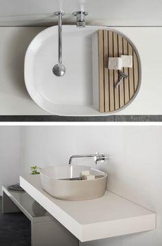 Countertop ceramic #washbasin STEP by @Ex.t | #design Note Design Studio #bathroom