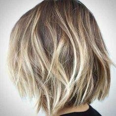 Short Messy Bob for Women | Messy Blonde Balyage Bob Haircut