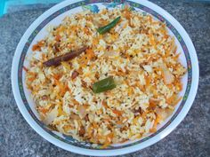 Carrot Rice / Seasoned Carrot Rice – Lunch Box Ideas / Leftover Recipes