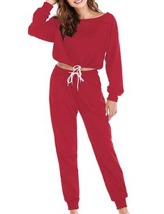 Abollria Women S Long Sleeve Solid Velour Sweatsuit Set Hoodie And