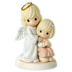 Always By Your Side - Girl - FIGURINES side by side girl figurines and side by side boy figurines in the comforting guardian angel series has been one of the most popular for precious moments selling thousands every year. Precious Moments Figurines, Holly Hobbie, By Your Side, Glitter Graphics, Collectible Figurines, Cherub, I Love Fashion, Coloring Pages, Childhood