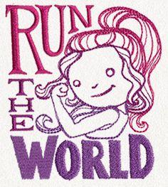 Girl Power - Run the World design (UT12950) from UrbanThreads.com