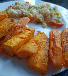 Cartofi dulci cu orez și legume Lidl, French Toast, Cooking Recipes, Breakfast, Food, Morning Coffee, Chef Recipes, Essen, Eten