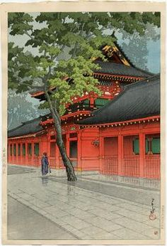 Kawase Hasui (1883-1957): After the Rain at Sanno, 1938