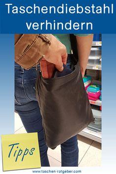 Die besten Tipps, Tricks und Schutzmechanismen um einen Taschendiebstahl zu verhindern ... Tricks, Tote Bag, Blog, Fashion, Shopping, Dime Bags, Moda, Totes, Blogging